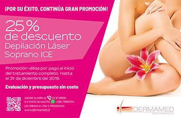 Gran Promoción: ¡25 % descuento Depilación Láser Soprano ICE!