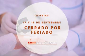 Feriado 17 y 18 de septiembre 2021